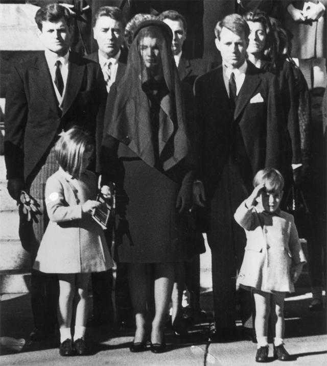 The funeral of President John F. Kennedy in November 1963.