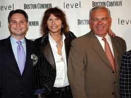 Niche Media CEO Jason Binn, Aerosmith singer Steven Tyler and Tom Menino attend the launch of Boston Common Magazine Sept. 21, 2005.