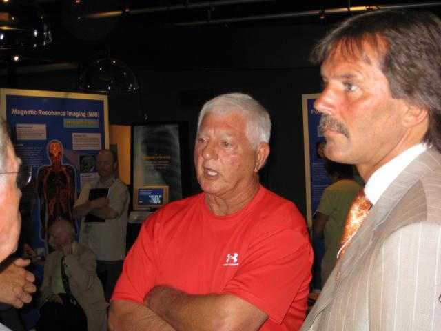 Yaz, seen here with Hall-of-Famer Dennis Eckersley, at the Museum of Science in June 2008.