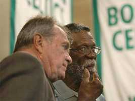 Tom Heinsohn with Bill Russell in 2003.