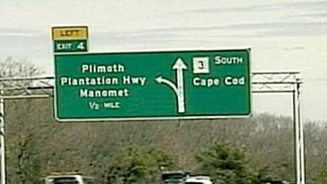 Highway Sign In Bourne - 15915150