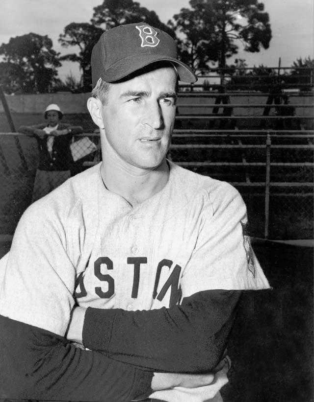 Boston Red Sox infielder Johnny Pesky is shown in Sarasota, Fla., during spring training on Feb. 26, 1952.