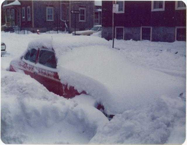 Snow Covered car 1