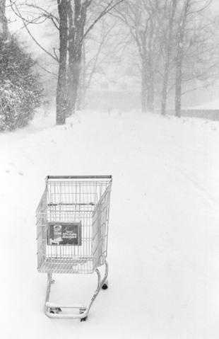 1978 Blizzard - abandoned shopping cart - Andover, Mass.