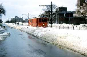 Heavy Plows Were Needed To Clear The MBTA Tracks