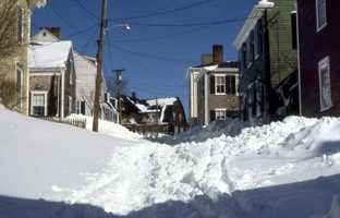 Some streets remained unplowed for a week.