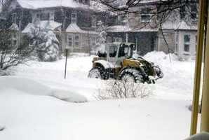 The blizzard slammed Massachusetts, dropping from 2 to 4 feet of snow in 32 hours.