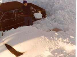 Shoveling out your car was a very common sight...and took a long time!