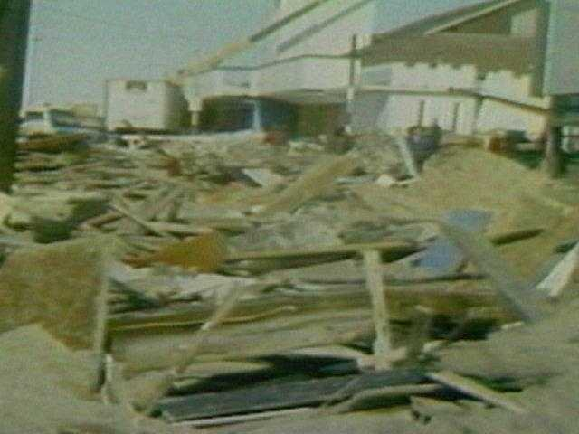 Debris was sometimes all that was left of the 2,000 homes that were destroyed.
