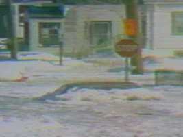 While streets elsewhere remained completely flooded.