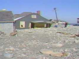 Not just water came from the ocean, rocks and debris inundated streets.