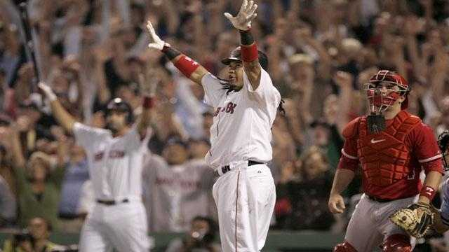 GOOD AP PHOTO - Manny Ramirez Walk Off Home Run Fenway - 14283053