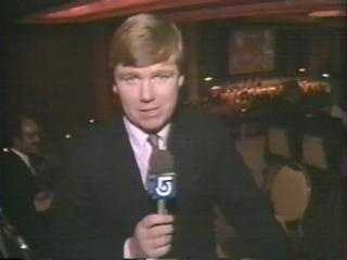 Sports reporter Mike Lynch, 1984