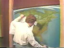Meteorologist Bob Ryan explains weather forecasting in 1977.