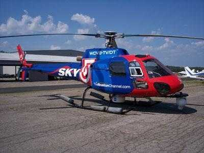 When it comes to covering a fast-breaking story, WCVB turns to Sky 5 -- an Eurocopter AS350B Astar. WCVB started flying its newest helicopter in July 2006.
