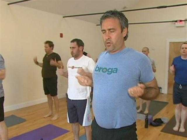 Broga is a yoga hybrid, melding different practices together.