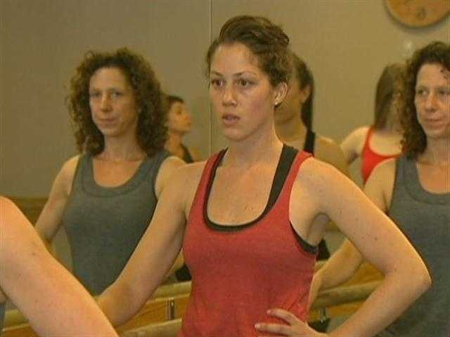 On this day, Pure Barre is packed with women like Courtney Beakley, whoa are looking for a challenge.