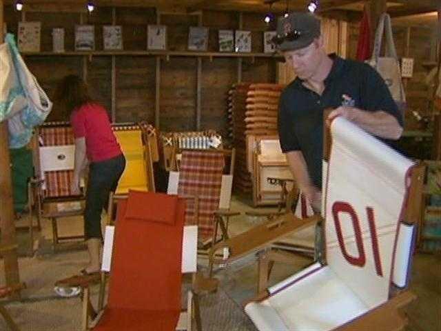 Justin Labdon own the Cape Cod Beach Chair Company.