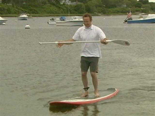Paddle boarding is a fast growing sport.