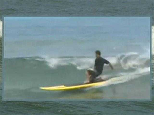 Experts handle 15 foot waves.