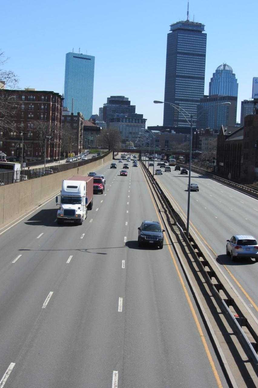 The Mass Pike now runs between Kenmore and Fenway Park.