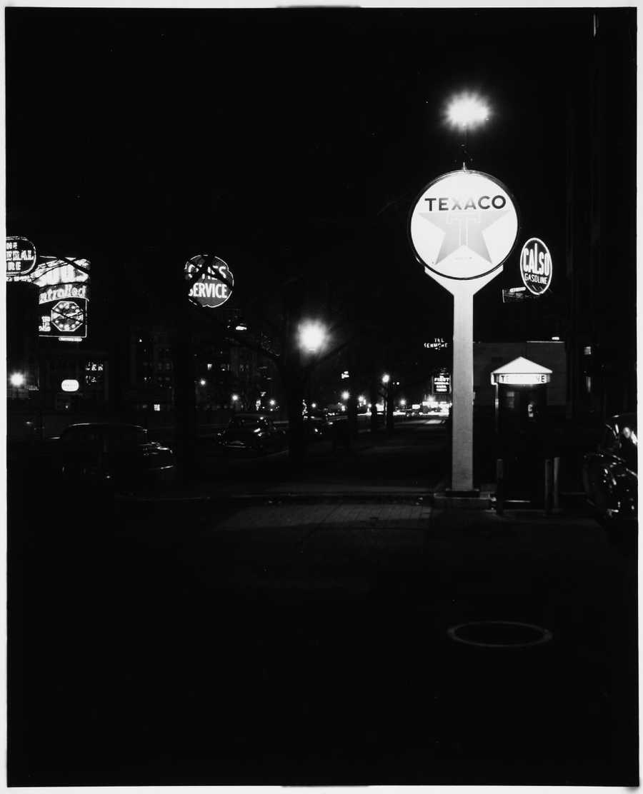 Kenmore at night in the 1950s.
