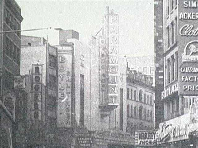 That was in 1932-the first film at the new Paramount Theatre on Washington Street, a street once lines with close to 20 theatres in just a 4 block area.