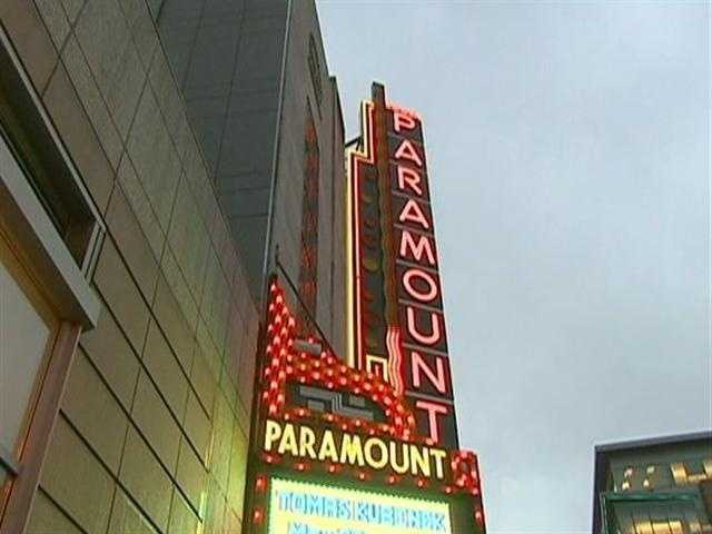 Today, the Paramount has been revived. The brilliant marquee lights up the sky.
