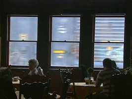 While dining at the Steaming Tender Restaurant, you feel like you are in a train aquarium.