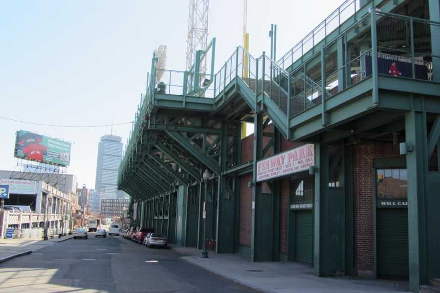 This is how the section of Fenway that was most damaged by the fire looks today.