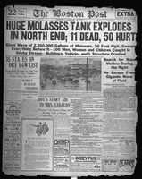The Boston Post's Jan. 16, 1919, front page chronicles the disaster. Unfortunately, the death toll would climb.