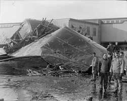 The tank was left mangled by the massive explosion.