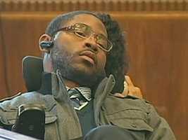 In March 2012, Marcus Hurd testifies at the murder trial of Edward Washington and Dwayne Moore. The shooting left him paralyzed.