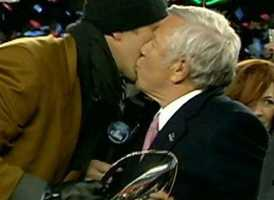 Drew Bledsoe congratulates Robert Kraftin 2012.