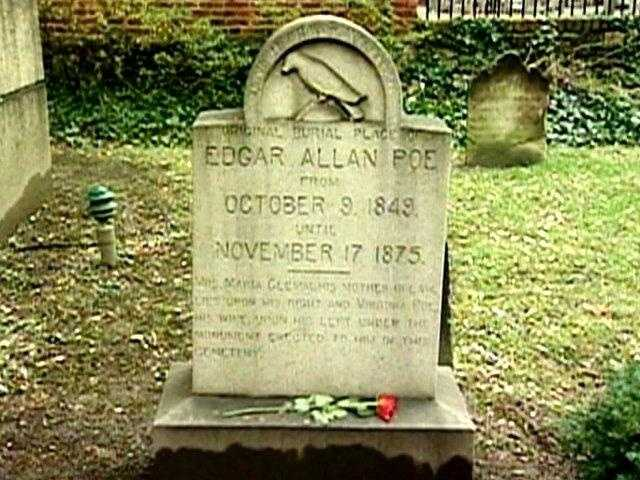 Poe died in Baltimore on Oct. 7, 1849, but the cause of his death remains a disputed mystery.