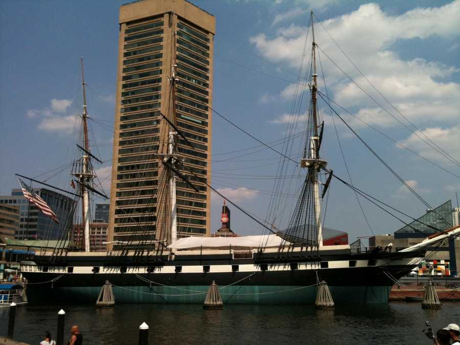 The Navy designed the USS Constellation, which was built in Baltimore and launched in 1797 as a frigate protecting U.S. commerce overseas.