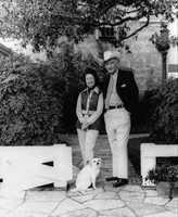 Lyndon and Ladybird Johnson with Yuki.