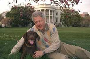 Bill Clinton and Buddy.