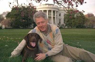 Bill Clinton and Buddy.