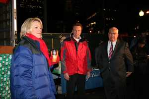 Heather Unruh, Anthony Everett and Mayor Tom Menino at Holiday Lights