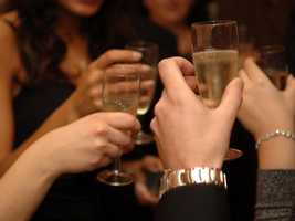 Calories from wine, beer, or any alcoholic drink can add up, so alternate with a glass of seltzer or diet soda.