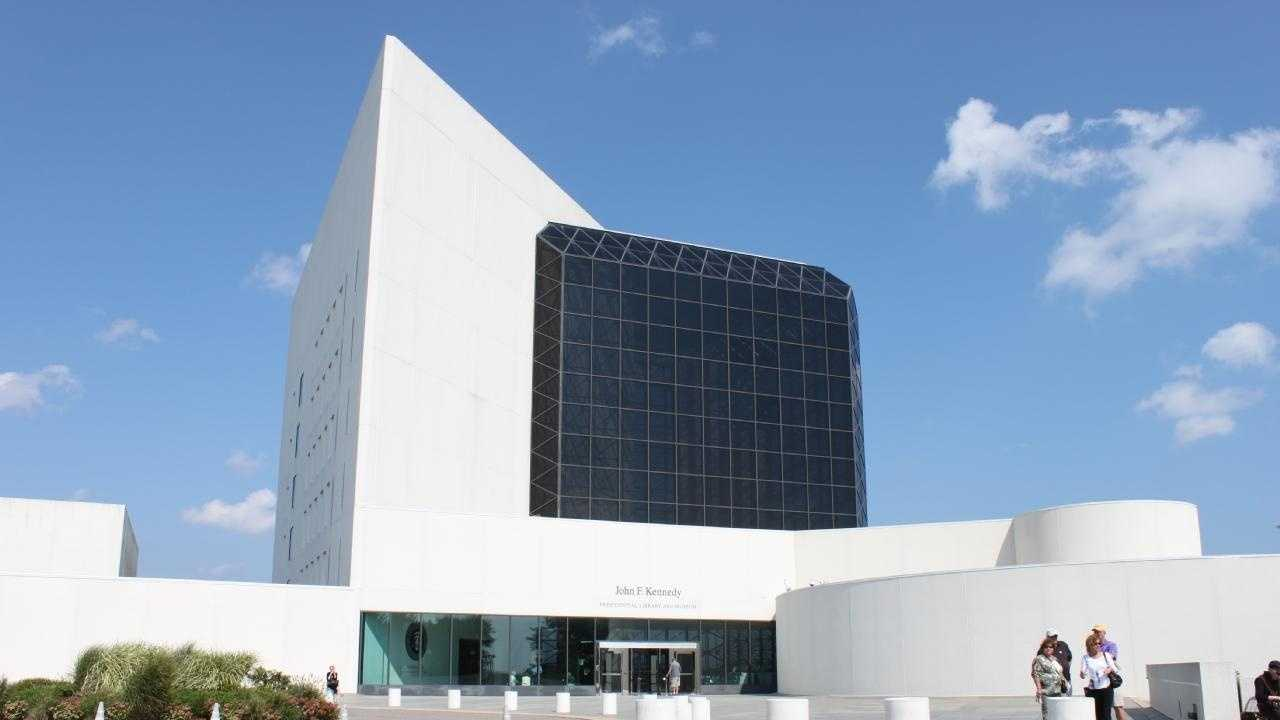 The JFK Library at Columbia Point in Dorchester