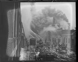On January 5, 1934, a major fire destroyed much of Fenway Park.