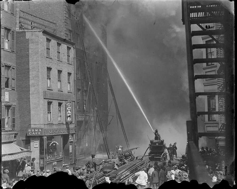 This picture from Leslie Jones is of a Tremont Street fire, circa 1930