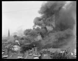 Three alarm fire on Worcester Street, in 1923
