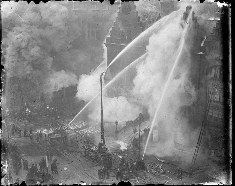 YMCA fire, Boylston Street, circa 1930
