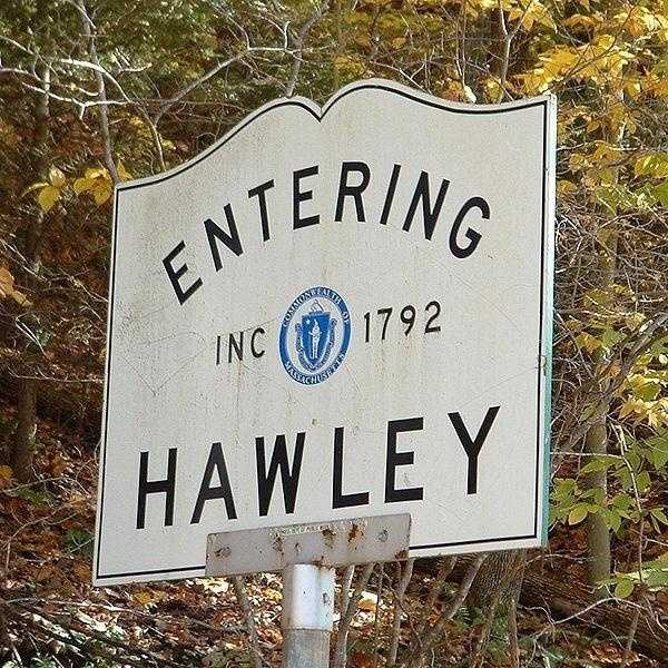 Hawley -- population 335 -- is in Franklin County. Hawley was first settled in 1760