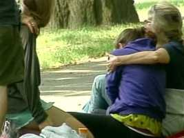Stunned friends who had helped launch the search, grieved at the scene.