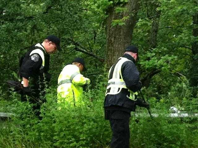 Dozens of police officers combed an area in Wayland where Astley was found dead.
