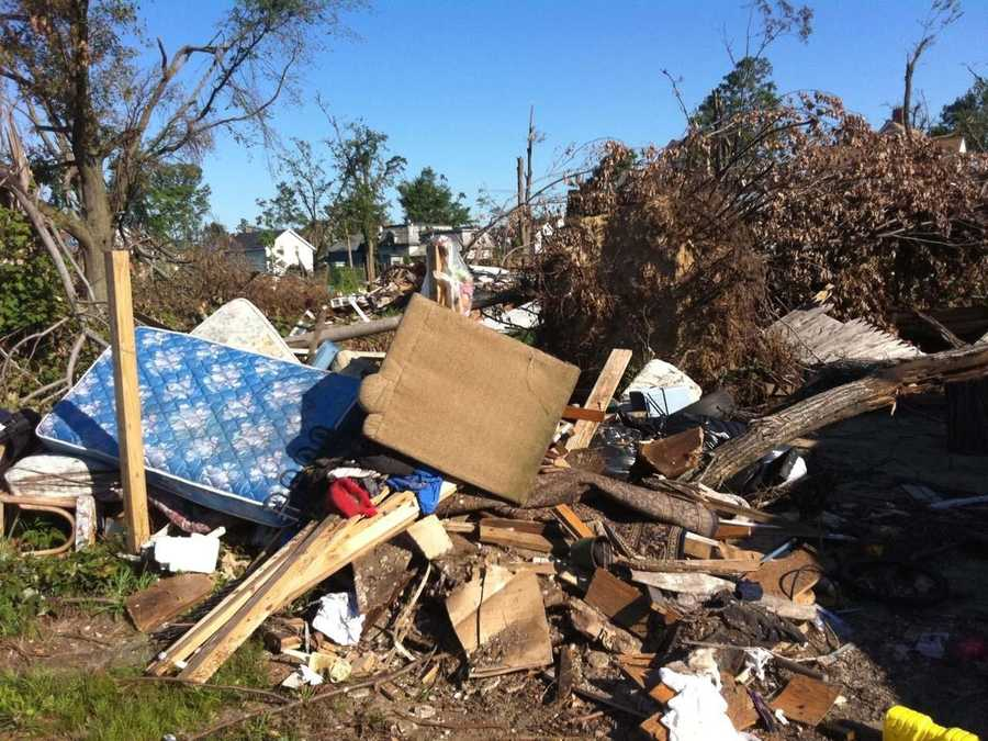 Bits and pieces of central Mass. homes and lives were strewn about storm's 39-mile path.